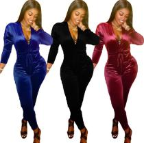 Fashion sexy V-neck jumpsuit DN8534