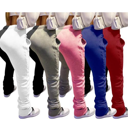 Ladies Ladies Bandage Insert Pocket Casual Ladies Pants Nightclub Clothes K2051