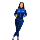 Fleece thickened sports and leisure two-piece suit LM1055