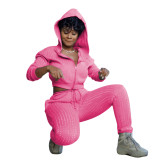 Two-piece padded sweater sports and leisure suit LM1053