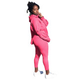 Sports and leisure solid color loose two-piece suit LM1051