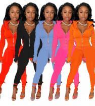 Womens solid color suit sports two-piece suit TC043