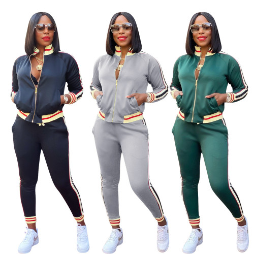 Womens autumn and winter new sports and leisure two-piece suit YZ848