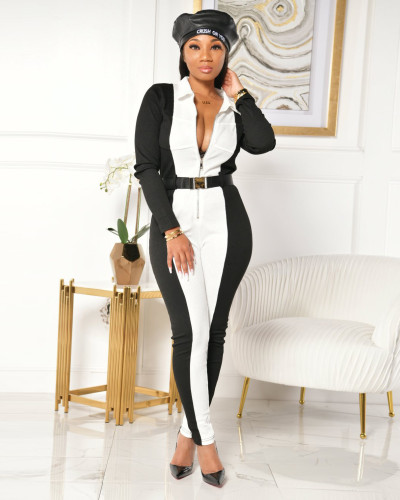 Womens sexy high-waist modified body tights jumpsuit ZSC0357