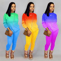 Womens fashion casual sexy gradient two-piece suit YZL817