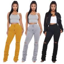 Classic pile pile stacking pants Womens fashion JLX6139