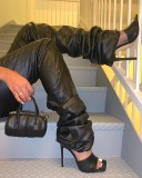 New autumn and winter leather pants