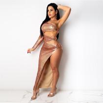 Womens sequin nightclub sexy style two-piece dress CCY8813