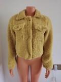 Explosive autumn and winter lamb wool temperament casual jacket  FF1061
