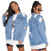 Sexy fashion all-match winter Womens denim jacket top SMR9852