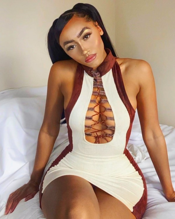 2020 autumn and winter new plus size women's sexy corduroy sleeveless dress FF1063