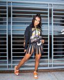 Women's sexy zipper skirt net celebrity hot black high waist zipper skirt FF1064