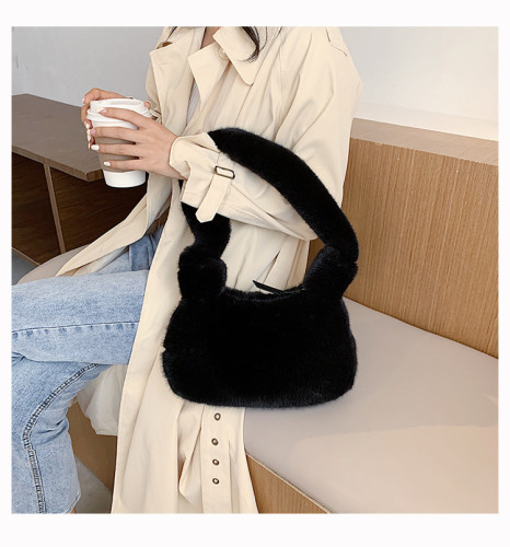 Fashion One Shoulder Fur Versatile Crossbody Bag RH-2037