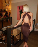 Women's sexy straps and more ways to wear nightclub dresses FF1075