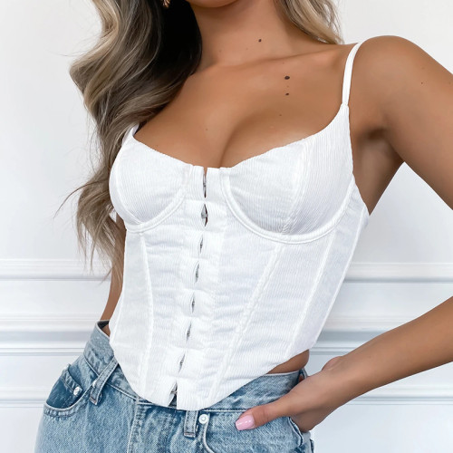 Slim-breasted female V-neck body sculpting with a small sling in the fishbone waistband XE213037P