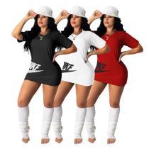 Womens Embroidered Skirt Short Skirt Fashion Milk Silk Dress DD8085