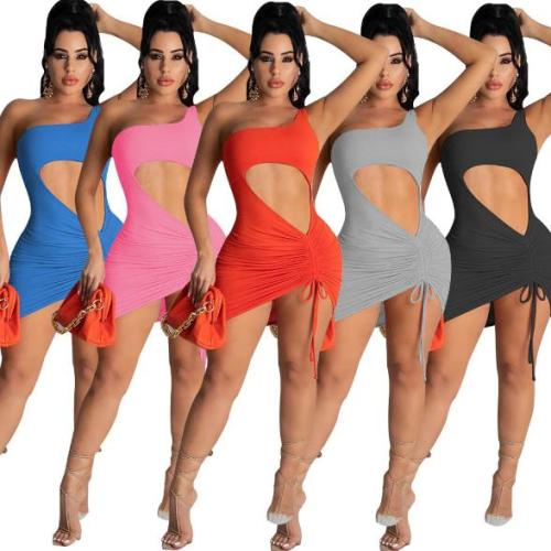 Hot slim sexy solid color Womens dress TC059