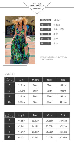 Womens Fashion Sexy Wrapped Chest Printed Sleeveless Dress NS4406
