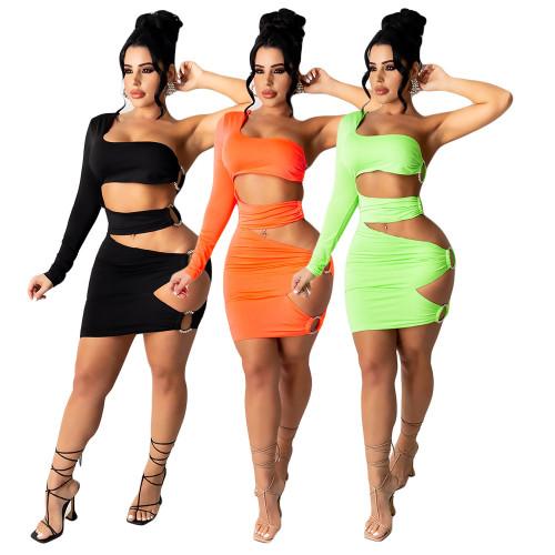 Color print nightclub dress sexy fashion diamond Womens dress CN0097