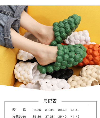 New personality bubble sandals and slippers fashion net celebrity home massage bottom slippers men RZ0025