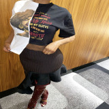 Womens 2021 positioning printing irregular stitching T-shirt ABL6663