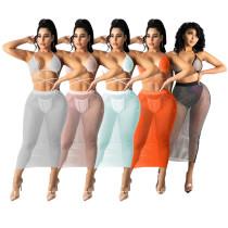 Sexy mesh bikini skirt suit TRS1125