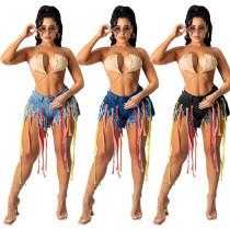 New Colorful Weaving Supreme Denim Shorts 949