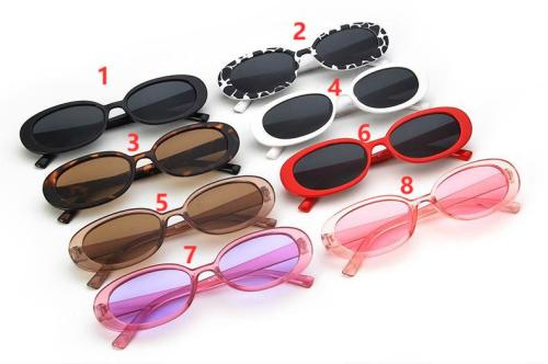 Oval speckle shade sunglasses KD95129