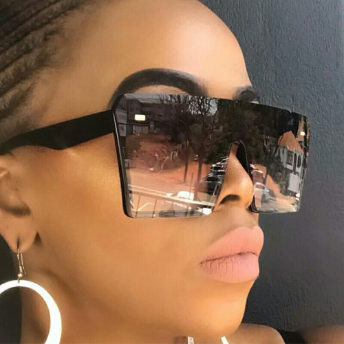 Large frame square rice nail one-piece sunglasses KD18038