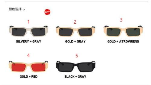 Steel leather and metal square sunglasses KD65161