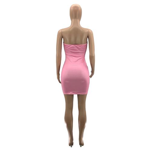 Digital positioning burnt flower dollar series sexy dress women SZ9074