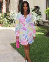 Digital print shirt dress ORY5194