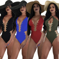 Sexy strappy one-piece swimsuit, a variety of ways to wear B9079