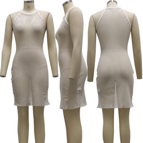 Fashion nightclub stretch mesh dress SMR10242