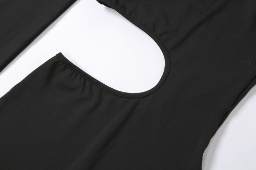 New long-sleeved sexy hollow sports jumpsuit K20Q2001