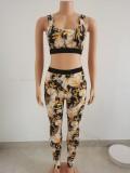 Net celebrity digital printing sports suit two-piece suit FFZ1118