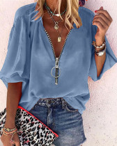 Women's solid color long-sleeved top Y5199