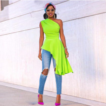 Fashion evening dress irregular ruffle skirt dress X9296