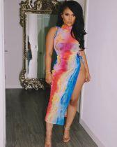 Sexy nightclub net yarn see-through dress L207