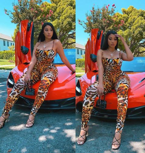 New autumn sexy fashion leopard print jumpsuit/clothes MY003
