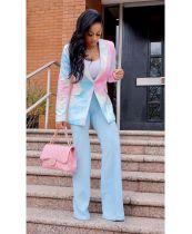 Fashion tie-dye printed button blazer A5272