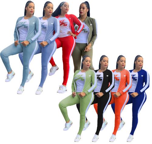 Three-piece sportswear slim fashion casual set MC019