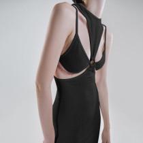 2021 autumn new women's sexy hollow retro suspender dress ins base skirt YJ21141