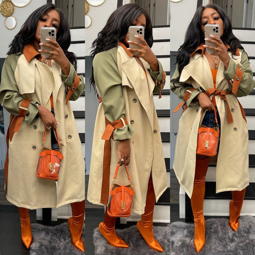 Women's autumn and winter new fashion casual windbreaker jacket GLS10057