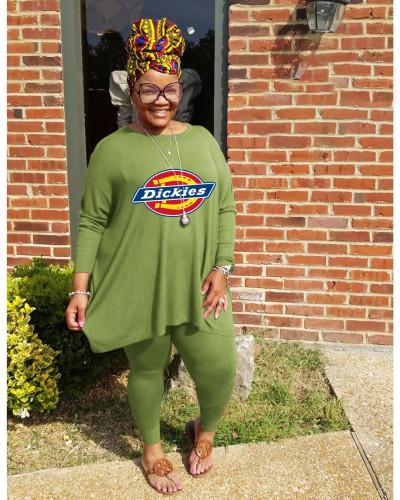 Two-piece plus size women's casual fat lady sports suit Q77239