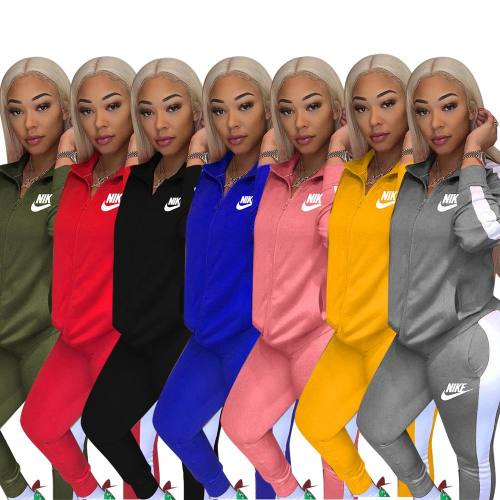 Embroidered leisure suit sports suit Y71102