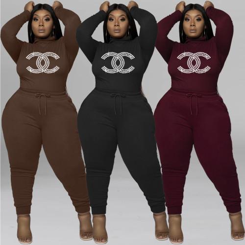 Fashion women's plus size long sleeve casual suit Q77282