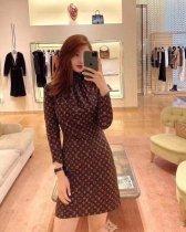 Autumn fashion print dress Y71105