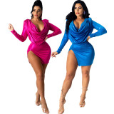 Sexy fashion solid color ladies two-piece suit SMR10433