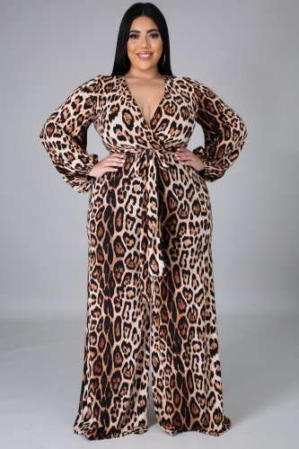Sexy fashion plus size women's V-neck jumpsuit SMR10604
